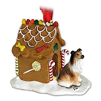 Collie Sable Ginger Bread House Ornament