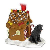 Labrador Retriever Black Ginger Bread House Ornament