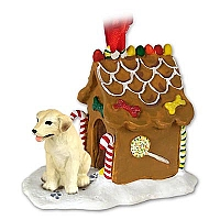 Labrador Retriever Yellow Ginger Bread House Ornament