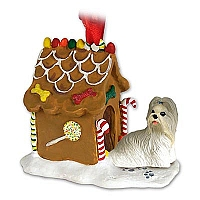 Shih Tzu Mixed Ginger Bread House Ornament