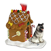Keeshond Ginger Bread House Ornament