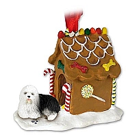 Old English Sheepdog Ginger Bread House Ornament