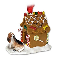 Basset Hound Ginger Bread House Ornament