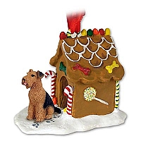 Airedale Ginger Bread House Ornament