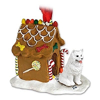 Samoyed Ginger Bread House Ornament