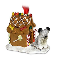 Skye Terrier Ginger Bread House Ornament