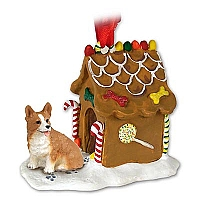 Welsh Corgi Pembroke Ginger Bread House Ornament