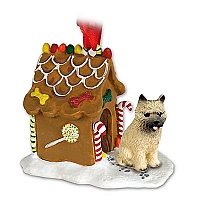 Cairn Terrier Red Ginger Bread House Ornament
