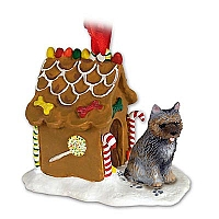 Cairn Terrier Brindle Ginger Bread House Ornament