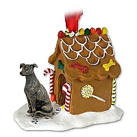 Greyhound Brindle Ginger Bread House Ornament
