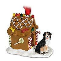 Bernese Mountain Dog Ginger Bread House Ornament