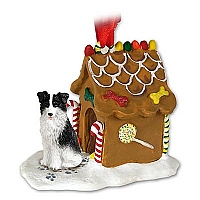 Border Collie Ginger Bread House Ornament
