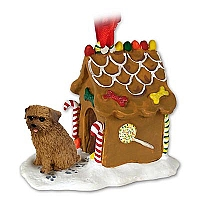 Norfolk Terrier Ginger Bread House Ornament