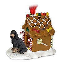 Gordon Setter Ginger Bread House Ornament