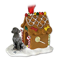 German Short Haired Pointer Ginger Bread House Ornament