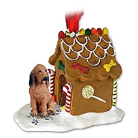 Bloodhound Ginger Bread House Ornament