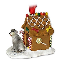 Irish Wolfhound Ginger Bread House Ornament