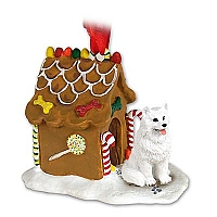 American Eskimo Ginger Bread House Ornament
