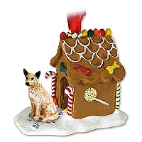 Australian Cattle Red Dog Ginger Bread House Ornament