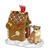 Border Terrier Ginger Bread House Ornament