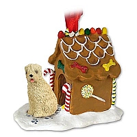 Soft Coated Wheaten Terrier Ginger Bread House Ornament