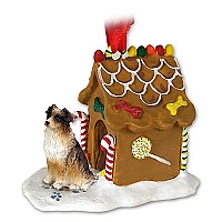 Australian Shepherd Brown Ginger Bread House Ornament