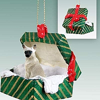 Siamese Gift Box Green Ornament