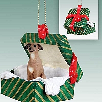 Italian Greyhound Gift Box Green Ornament