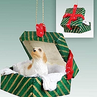 Petit Basset Griffon Vendeen Gift Box Green Ornament