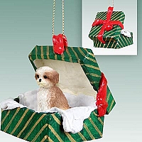Shih Tzu Tan w/Sport Cut Gift Box Green Ornament
