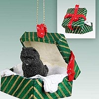 Chow Black Gift Box Green Ornament