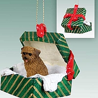 Norfolk Terrier Gift Box Green Ornament
