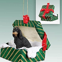 Gordon Setter Gift Box Green Ornament