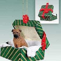 Bullmastiff Gift Box Green Ornament