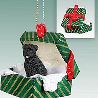 Bouvier des Flandres Gift Box Green Ornament