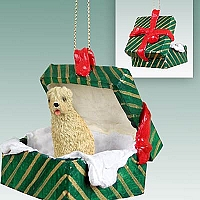 Soft Coated Wheaten Terrier Gift Box Green Ornament