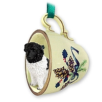 Landseer Tea Cup Green Holiday Ornament