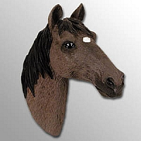 Chestnut Horse w/Star Markings Magnet