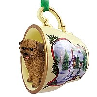 Norfolk Terrier Tea Cup Snowman Holiday Ornament
