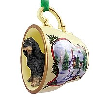 Gordon Setter Tea Cup Snowman Holiday Ornament