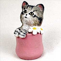 My Kitty Playful in a Pot Figurine