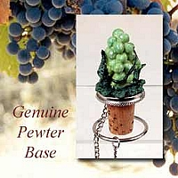 Green Grapes Bottle Stopper