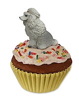 Poodle Gray Pupcake Trinket Box