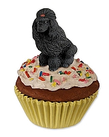 Poodle Black Pupcake Trinket Box