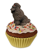 Poodle Chocolate Pupcake Trinket Box
