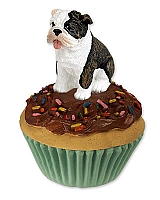 Bulldog Brindle Pupcake Trinket Box