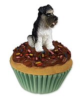 Schnauzer Gray w/Uncropped Ears Pupcake Trinket Box