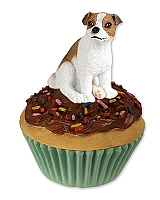 Jack Russell Terrier Brown & White w/Smooth Coat Pupcake Trinket Box