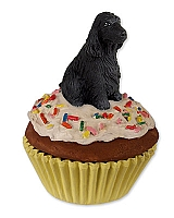 Cocker Spaniel English Black Pupcake Trinket Box