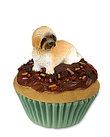 Lhasa Apso Brown w/Sport Cut Pupcake Trinket Box